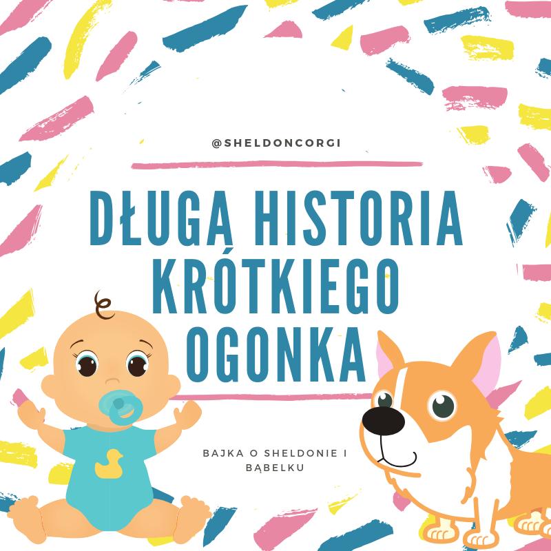 Okładka bajki o psach  Długa historia krótkiego ogonka